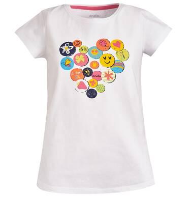 Endo - Bluzka z krótkim rękawem dla dziewczynki 9-13 lat D81G537_1