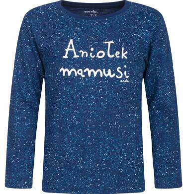 "Endo - ""Aniołek mamusi"" T-shirt z długim rękawem dla chłopca 3-8 lat C82G134_1"