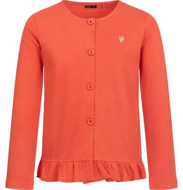Bluza rozpinana dla dziewczynki, pomarańczowa, 2-8 lat D04C015_3