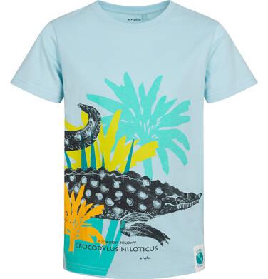 Endo - T-shirt z krótkim rękawem dla chłopca, z kajmanem, niebieski, 9-13 lat C05G063_1 12