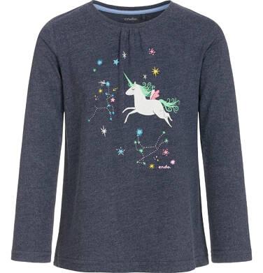 Endo - Bluzka z długim rękawem dla dziewczynki 3-8 lat D92G083_1