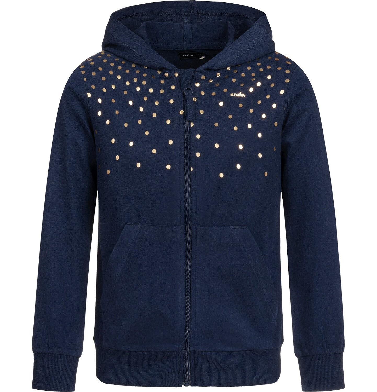 Endo - Bluza rozpinana z kapturem dla dziewczynki, granatowa, 2-8 lat D04C017_1