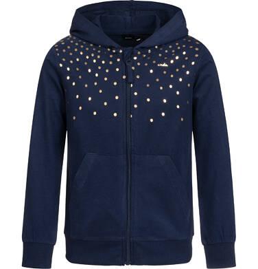 Bluza rozpinana z kapturem dla dziewczynki, granatowa, 2-8 lat D04C017_1