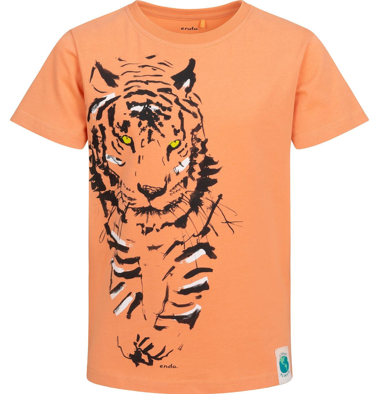 Endo - T-shirt z krótkim rękawem dla chłopca, z tygrysem, pomarańczowy, 9-13 lat C05G072_1