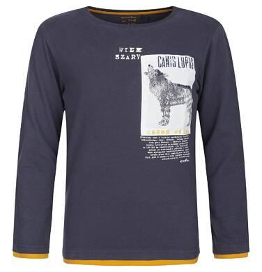 """Endo - """"Wilk Szary"""" T-shirt z długim rękawem dla chłopca 9-13 lat C82G549_1"""