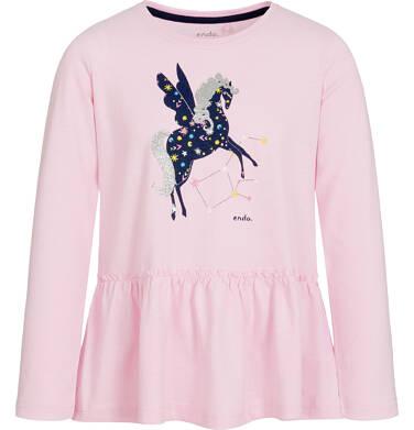 Endo - Bluzka z długim rękawem dla dziewczynki 3-8 lat D92G080_2