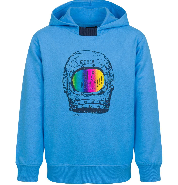Endo - Bluza z kapturem dla chłopca, motyw z kosmosem, niebieska, 9-13 lat C03C540_2