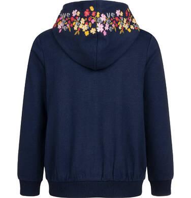 Endo - Bluza rozpinana z kapturem dla dziewczynki, granatowa, 2-8 lat D04C023_1 8