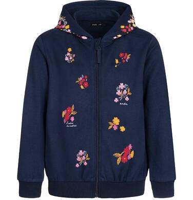 Endo - Bluza rozpinana z kapturem dla dziewczynki, granatowa, 2-8 lat D04C023_1 7
