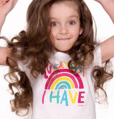 Endo - Bluzka z krótkim rękawem dla dziewczynki 3-8 lat D81G040_1
