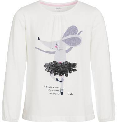 Endo - Bluzka z długim rękawem dla dziewczynki 3-8 lat D92G047_1