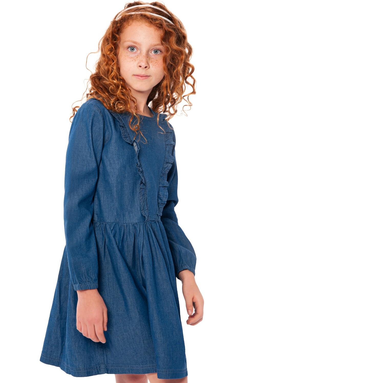 Endo - Sukienka jeansowa dla dziewczynki, 2-8 lat D03H063_1