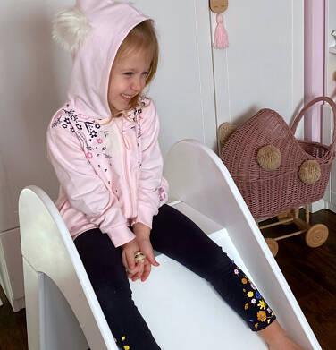 Endo - Bluza rozpinana z kapturem dla dziewczynki, porcelanowa, 2-8 lat D04C024_1 23