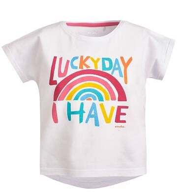 Endo - Bluzka z krótkim rękawem dla dziewczynki 9-13 lat D81G540_1