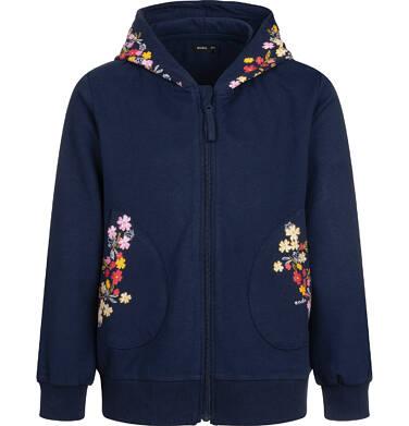Bluza rozpinana z kapturem dla dziewczynki, granatowa, 9-13 lat D04C059_1