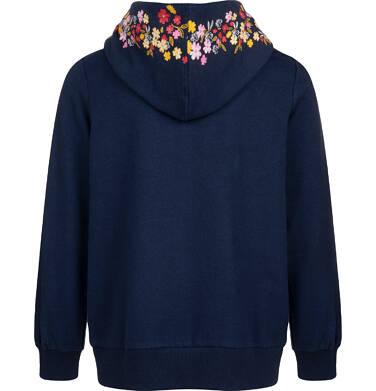 Endo - Bluza rozpinana z kapturem dla dziewczynki, granatowa, 9-13 lat D04C059_1,2