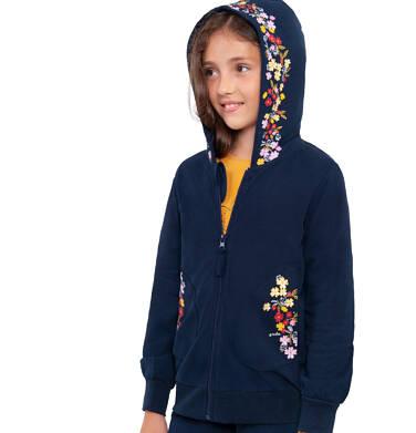 Endo - Bluza rozpinana z kapturem dla dziewczynki, granatowa, 9-13 lat D04C059_1 7