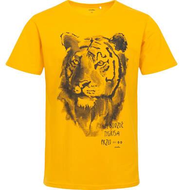 Endo - Męska piżama z krótkim rękawem, z lwem, żółta Q06V002_1 3