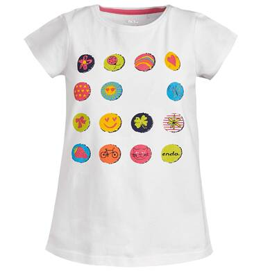 Endo - Bluzka z krótkim rękawem dla dziewczynki 3-8 lat D81G041_1