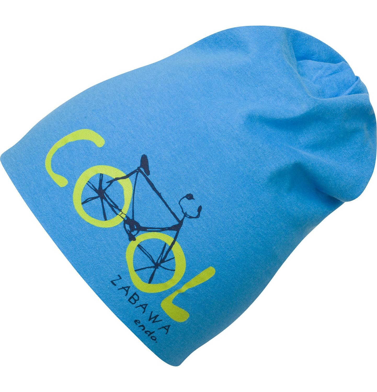 Endo - Czapka dla chłopca, z rowerem, niebieska C03R019_1