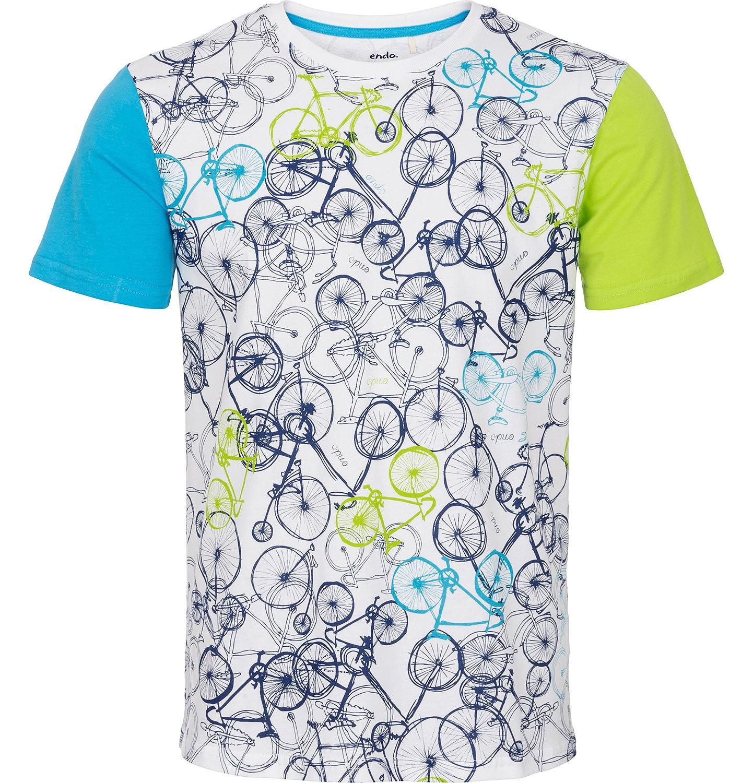Endo - T-shirt męski z krótkim rękawem Q91G010_1