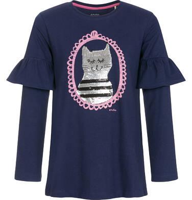 Endo - Bluzka z długim rękawem dla dziewczynki 3-8 lat D92G020_1