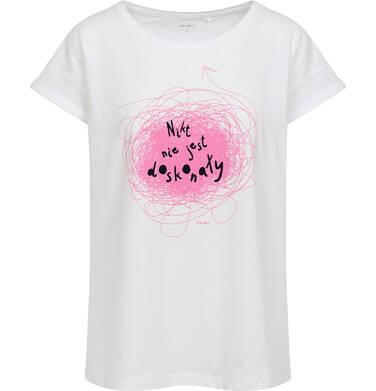 Endo - Damski t-shirt, z napisem nikt nie jest doskonały, biały Y06G015_1 5