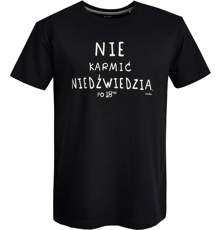 Endo - T-shirt męski z krótkim rękawem Q82G007_1