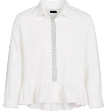 Koszula z długim rękawem dla dziewczynki, biała, 3-8 lat D92F011_2