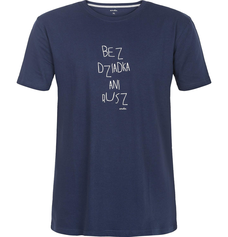 Endo - T-shirt męski z krótkim rękawem Q82G008_1