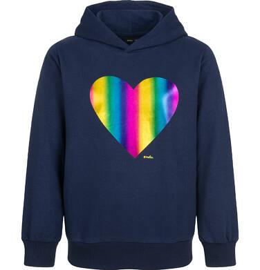 Endo - Bluza z kapturem dla dziewczynki, z sercem, granatowa, 9-13 lat D03C523_1 7