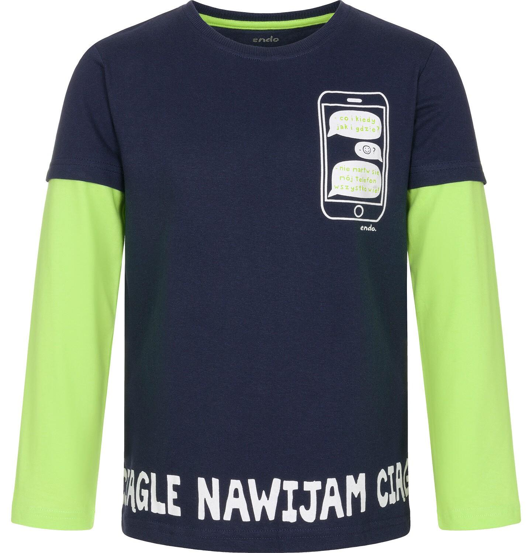 Endo - T-shirt z długim rękawem dla chłopca 9-13 lat C92G616_1