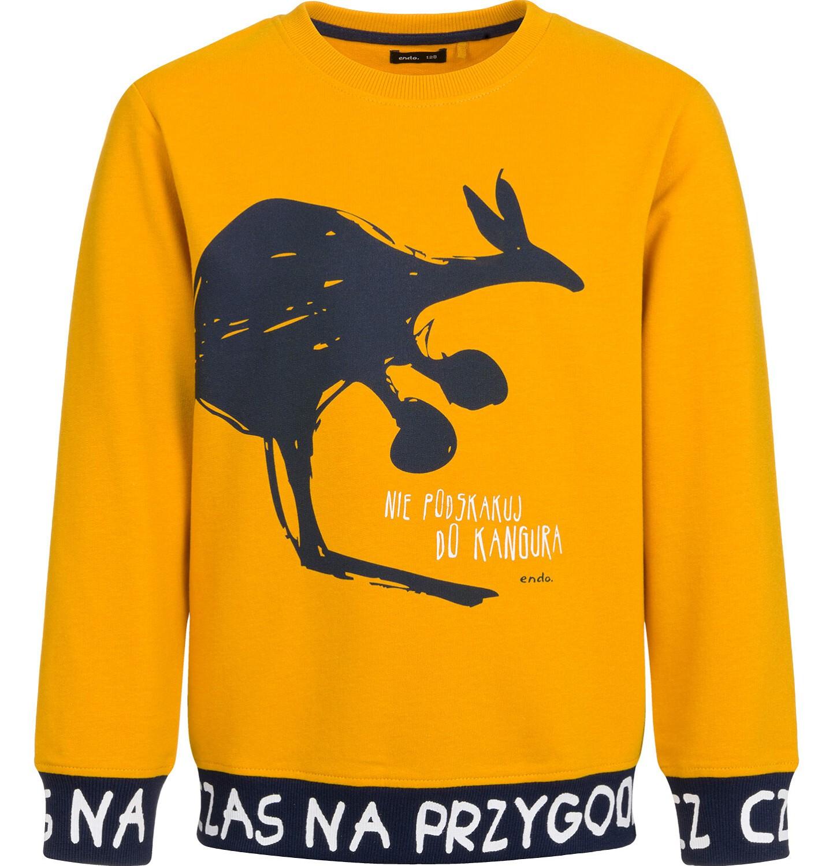 Endo - Bluza dla chłopca, nie podskakuj do kangura, musztardowa, 9-13 lat C03C504_1