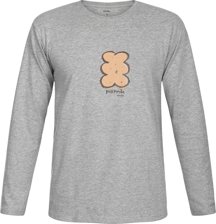 Endo - T-shirt męski z długim rękawem Q82G009_1