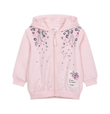 Rozpinana bluza z kapturem dla dziecka do 2 lat N04C017_1
