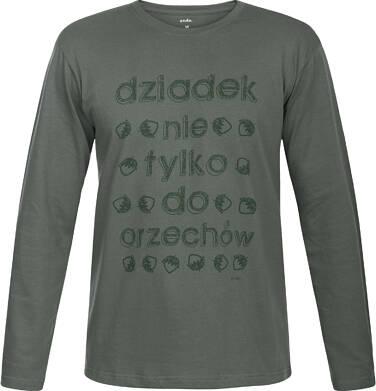 """Endo - """"Dziadek nie tylko do orzechów"""" T-shirt męski z długim rękawem Q82G010_1"""