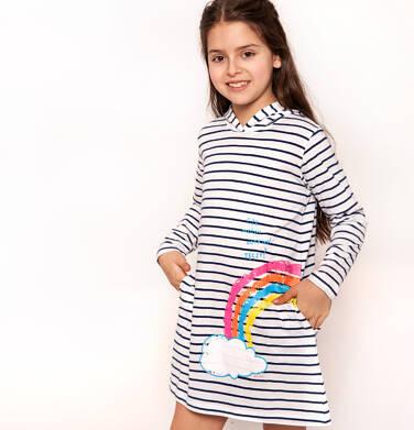 Sukienka z kapturem dla dziewczynki 3-8 lat D91H002_1