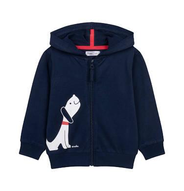 Rozpinana bluza z kapturem dla dziecka do 2 lat N04C037_1