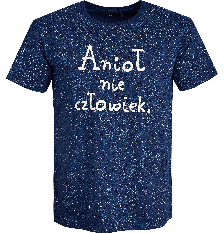 Endo - T-shirt męski z krótkim rękawem Q82G011_1