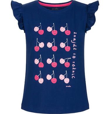 Endo - Bluzka z krótkim rękawem dla dziewczynki 3-8 lat D91G054_2