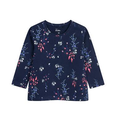 Endo - Bluzka z długim rękawem dla dziecka do 2 lat, deseń w kwiaty N04G061_1 27