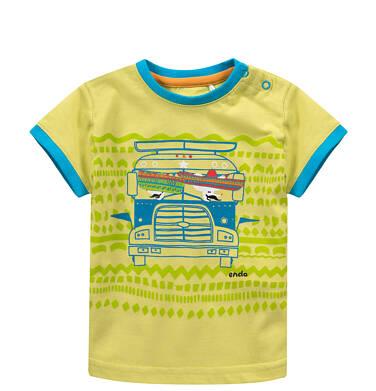 Endo - T-shirt z kolorowymi lamówkami dla niemowlaka N51G028_1
