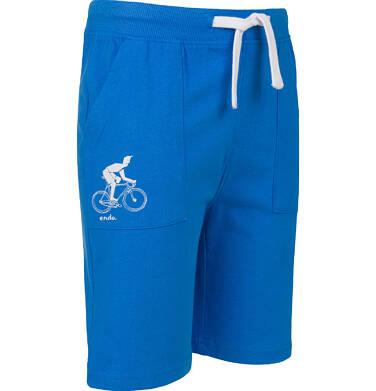 Endo - Szorty dla chłopca, motyw z rowerem, niebieskie, 2-8 lat C03K036_2,2