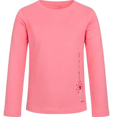 Endo - Bluzka z długim rękawem dla dziewczynki, z sercem, różowa, 6-8 lat D03G190_1 288