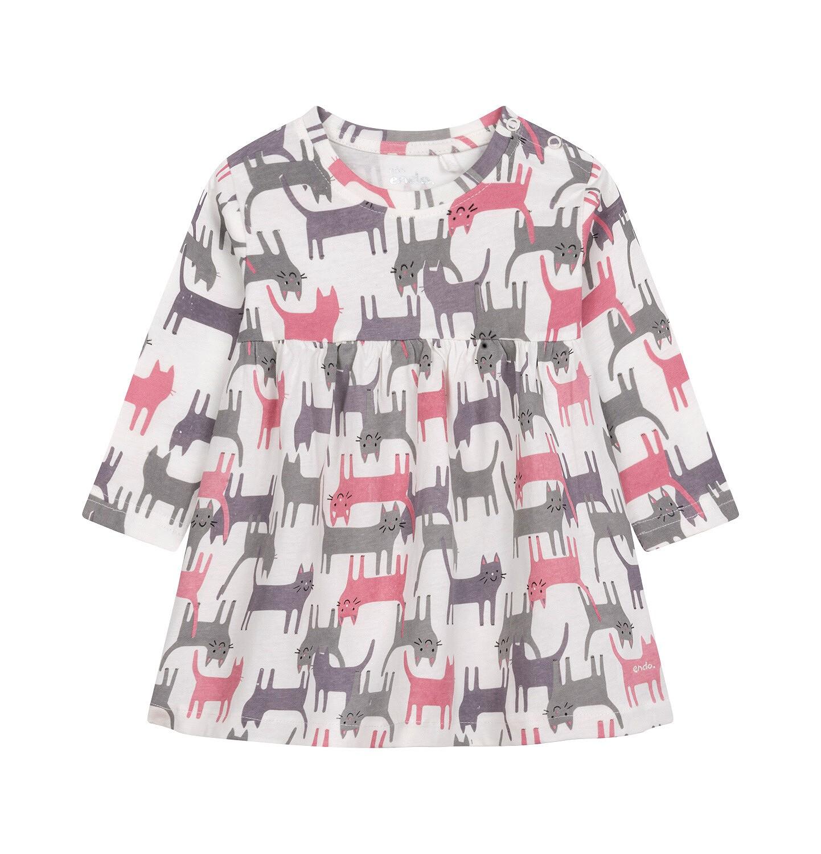 Endo - Sukienka dla dziecka do 2 lat, deseń w koty N04H017_2