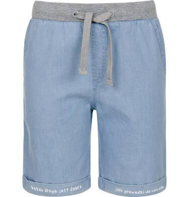 Endo - Krótkie spodenki jeansowe dla chłopca 9-13 lat C91K504_1
