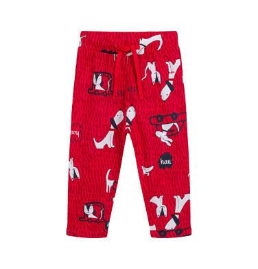 Spodnie dresowe dla dziecka do 2 lat, czerwone N04K016_1