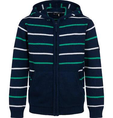 Endo - Sweter dla chłopca, z kapturem, w paski, granatowy, 2-8 lat C04B022_1 6