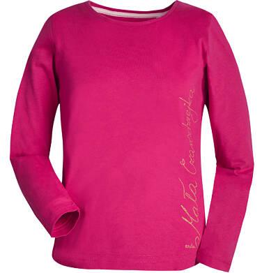 T-shirt z długim rękawem dla dziewczynki 9-13 lat D82G556_1
