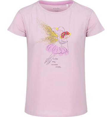 Endo - Bluzka z krótkim rękawem dla dziewczynki, z wróżką, różowa, 2-8 lat D03G086_1 21